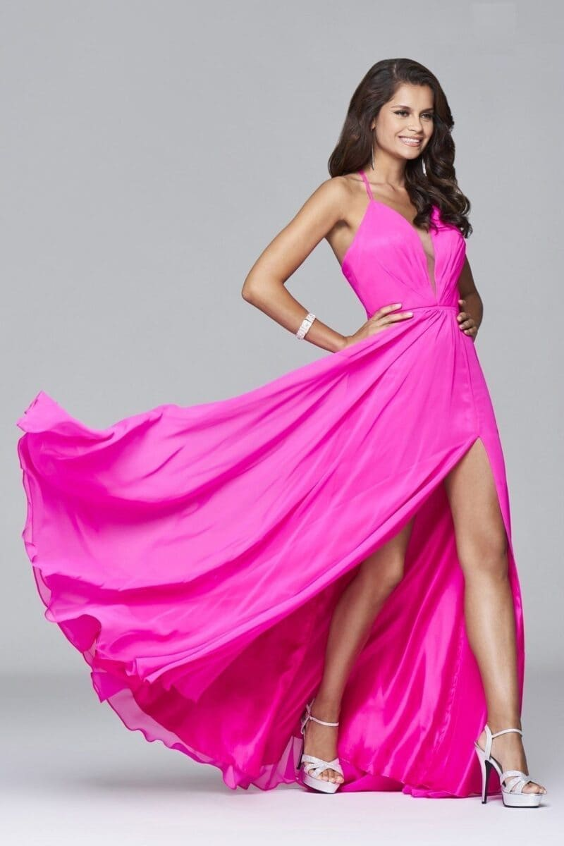 7747-cherry-pink-evening-gowns