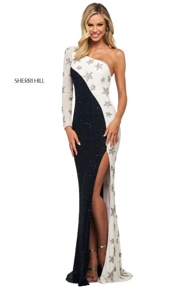 Sherri-Hill-53591-black-ivory-silver-46935
