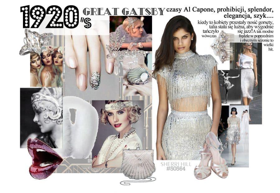 Jak się ubrać na karnawał - motyw Great Gatsby lata 20'te inspiracje przyjęcie w stylu great gatsby jaka suknienka co ubrać na karnawał