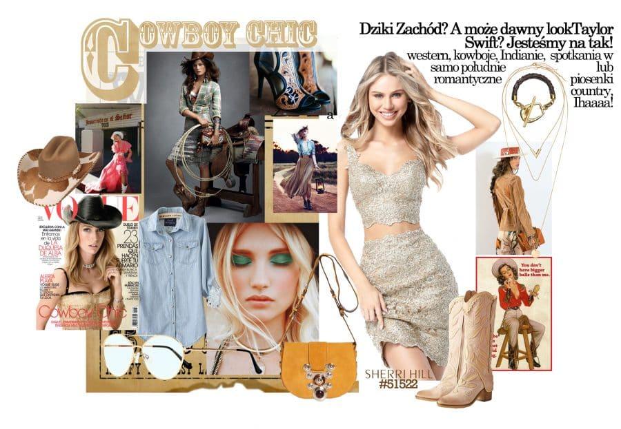 Jak się ubrać na karnawał - motyw cowboy chic inspiracje przyjęcie w stylu dziki zachód suknienka co włożyć na karnawał
