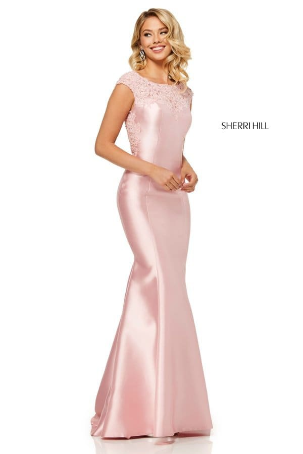 0cf7dd0d09 Suknia wieczorowa z gorsetem i koronkowym rękawem  52543